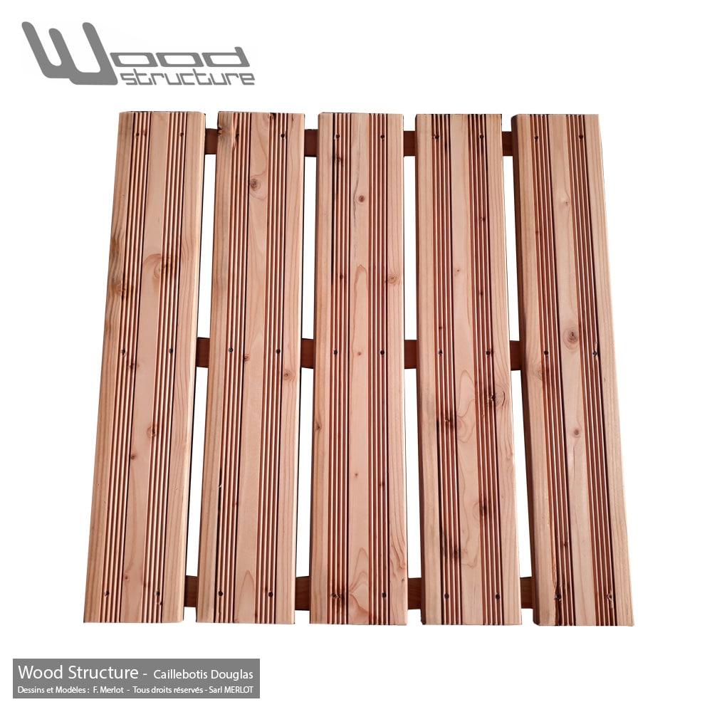 Caillebotis Bois Douglas pour Terrasse - Dalle Terrasse - Caillebotis prêt à poser - Wood Structure