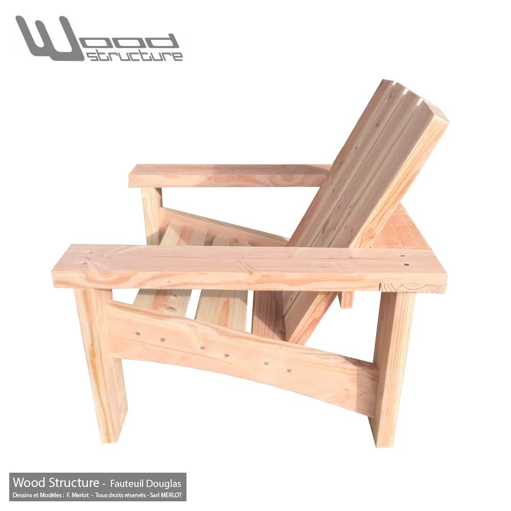 Fauteuil Douglas - Fauteuil de jardin Wood Structure -