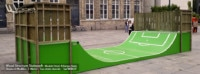 Rampe Skate H100L300 Déco Football - Fabriqué par Wood Structure et la Sarl MERLOT Richelieu (37) Concepteur et fabricant de Skatepark depuis 1990