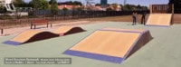 Skatepark de Mortagne-Sur-Sèvre (85) - Vendée - Pays-de-la-Loire - Modules Street Funbox - Double vague et Rampe Skate - Fabriqué par Wood Structure et la Sarl MERLOT Richelieu (37) - Concepteur et fabricant de Skatepark depuis 1990