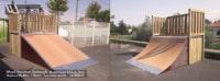 Skatepark de Moncoutant (79) - Deux-Sèvres - Nouvelle-Aquitaine - Rampe Skate et Modules Street Funbox - Fabriqué par Wood Structure et la Sarl MERLOT Richelieu (37) - Concepteur et fabricant de Skatepark depuis 1990
