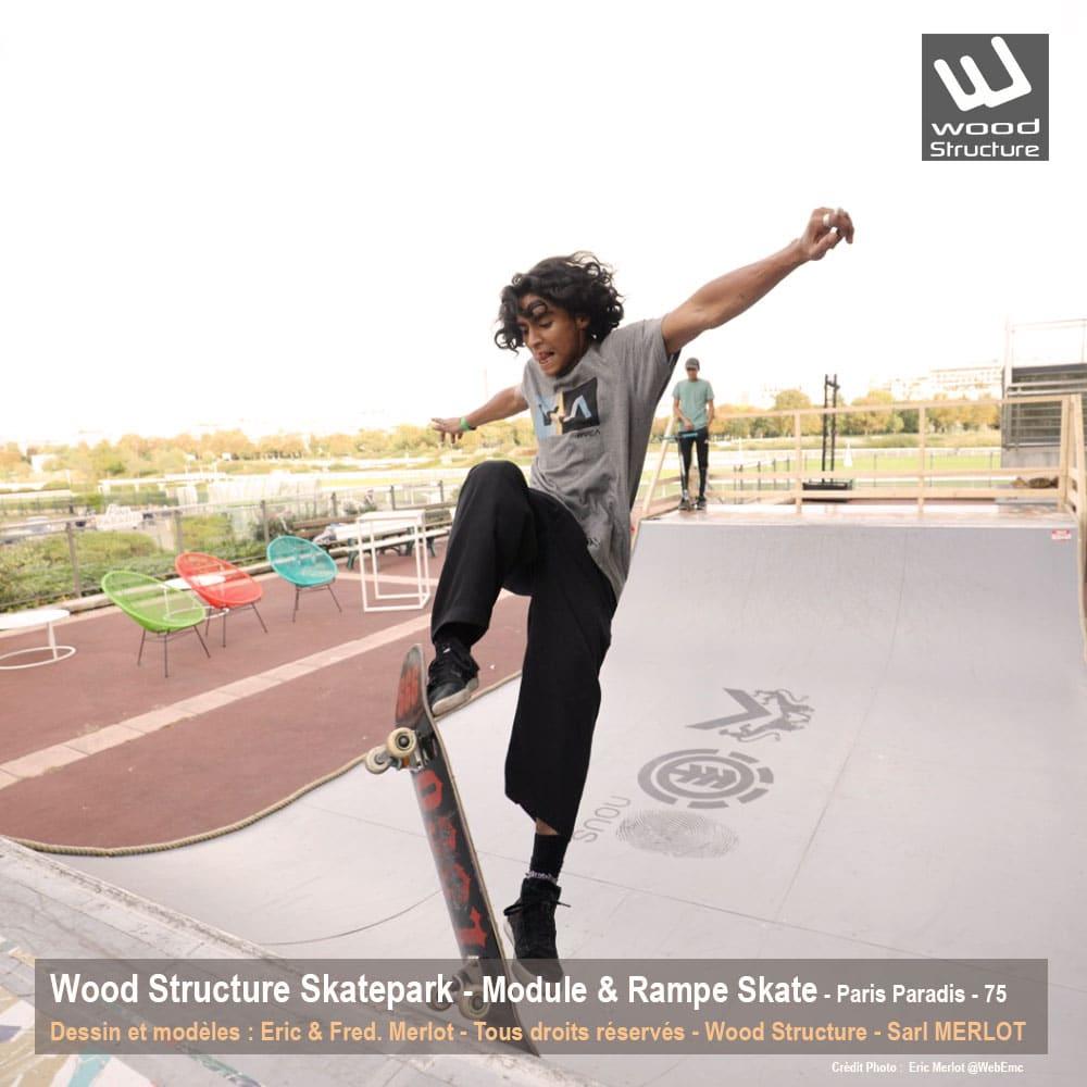 Mini Rampe Skate pour le festival Paris Paradis organisé par le quotidien Le Parisien - Septembre 2019 - Wood Structure Skatepark - Sarl MerlotMini Rampe Skate pour le festival Paris Paradis organisé par le quotidien Le Parisien - Septembre 2019 - Wood Structure Skatepark - Sarl Merlot