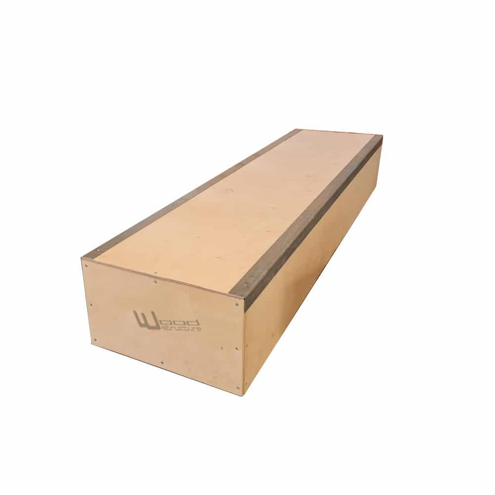 Curb Grind Box pour Skateboard Roller Bmx Trottinette - Wood Structure Skatepark